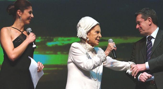 Benedetta  Rinaldi, Silvana Pampanini e Lino Fabrizi -  XXI Festival della Canzone Romana - Teatro Olimpico 2