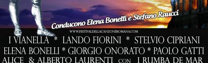 LOCANDINA FESTIVAL CANZONE ROMANA 2014 settembre