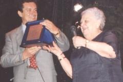 La-Sora-Lella-Fabrizi-madrina-1^-edizione-1991-con-Lino-Fabrizi
